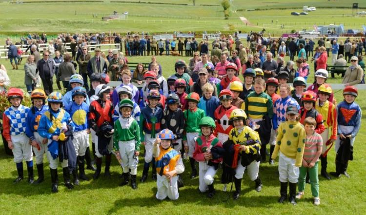 Pony Racing Prize Giving - The Meynell and South Staffordshire Hunt Point to Point meeting, Garthorpe, Saturday 30th May 2015.