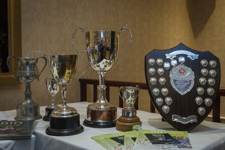 The cups on display ahead of the Devon & Cornwall Point-To-Point Area awards evening